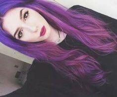 purple long hair ♡
