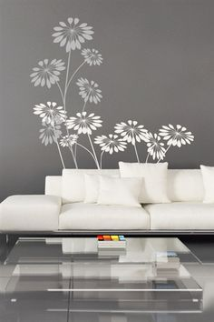 This would be very pretty with either a large picture or mirror next to it! Wall Decals  Precious Flowers- WALLTAT.com Art Without Boundaries