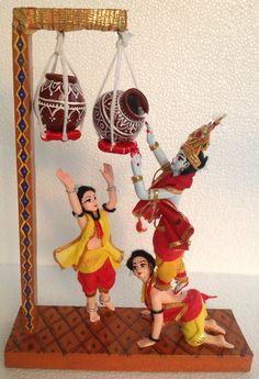 Radha Krishna Songs, Krishna Art, Krishna Leela, Krishna Quotes, Happy Janmashtami, Krishna Janmashtami, Janmashtami Images, Diy Home Crafts, Clay Crafts