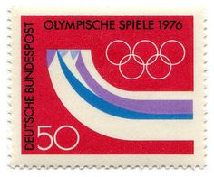 76 olympics stamp. Add Around The Rings on www.Twitter.com/AroundTheRings & www.Facebook.com/AroundTheRings for the latest info on the Olympics.