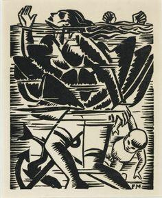 'Sans titre, album Debout les morts', de Frans Masereel (1917).