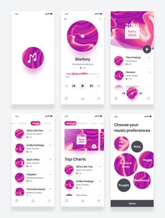 Elegant Music App Design Source by Ui Design Tutorial, Kit Design, Design Tutorials, Design Ideas, Ios App Design, Mobile App Design, Mobile Ui, Moodboard App, Ui Kit
