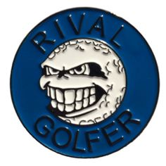 'Rebellious' Golf Ball Marker - Blue #golf #newballmarkeranyone #freepostage