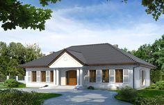 Projekt Tercja 6 to dom, który przywołuje urok dworków szlacheckich. Otaczająca go zieleń spowoduje u domowników poczucie komfortu i spokoju.