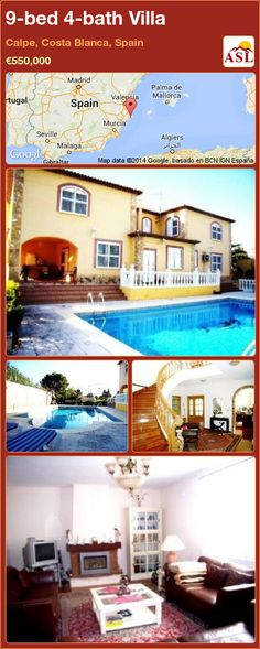 9-bed 4-bath Villa in Calpe, Costa Blanca, Spain ►€550,000 #PropertyForSaleInSpain
