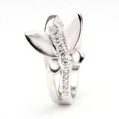 Silver Ring with Butterfly