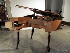 Portuguese artist João Mouro specialises in reconstructing redundant furniture he finds left out on the streets of Lisbon and turning it into wonderful works of art. He believes that collecting discarded wooden furniture is a more cost effective way to experiment with materials. What he creates is completely dependent on what sort of materials he finds, and does not follow any specific design process.
