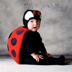 Ladybug Costume - Pinned for Kidfolio, the parenting mobile app that makes sharing a snap. #babycostumes