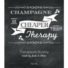 Custom champagne labels. Personalized your own at BottleYourBrand.com