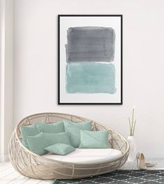 Minimalist Large Abstract Painting Interior Design Art Giclee Print Watercolor Painting by AcrylicVSWatercolor Interior Paint, Interior Design, Watercolor Paintings Abstract, Giclee Print, Design Art, Minimalism, Throw Pillows, Art Prints, Home