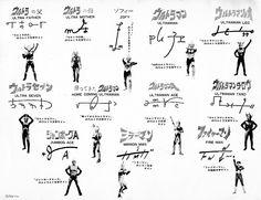 Ultramans' signatures