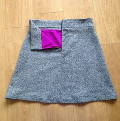 Sara's wool and silk lined Delphine skirt