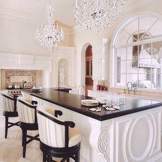 elegant kitchen but I'd want granite or quartz top but otherwise....dream kitchen