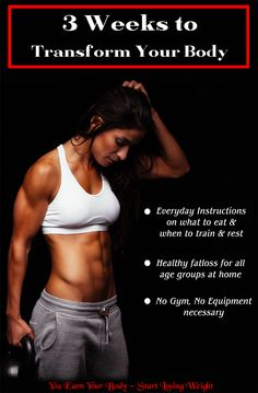 3 Weeks to Transform Your Body. Most easy weight loss plan for women to lose weight. It's all up to you ladies  whether you want have healthy body or unhealthy body. Earn your body - Start Losing Weight.