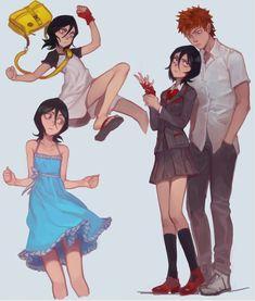Kon Bleach, Bleach Ichigo And Rukia, Kuchiki Rukia, Bleach Anime, Character Design Animation, Character Art, Character Reference, Character Concept, Shinigami