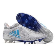 buy online 9aad7 1eb07 Nouveau Adidas X 17 PureChaos Chaussures de football Blanc Bleu Soldes  Soccer Boots, Football Shoes