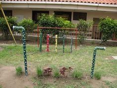 special needs sensory garden, love the talking pole idea