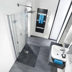 bodengleiche dusche mit nach innen einklappbaren t ren kleine b der mit dachschr ge. Black Bedroom Furniture Sets. Home Design Ideas