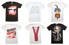 T-shirts from Justice's D.A.N.C.E. music video.