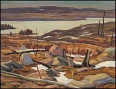 Alexander Young (A.) Jackson - April, Faulkenham Lake, Ontario x oil on canvas Group Of Seven Artists, Group Of Seven Paintings, Canadian Painters, Canadian Artists, Jackson And April, Tom Thomson Paintings, Ontario, Landscape Paintings, Landscapes