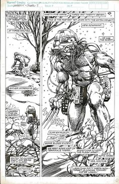 travisellisor:  splash page from Marvel Comics Presents #79 by Barry Windsor-Smith