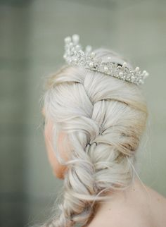 Full Bridal Crown with Pearls