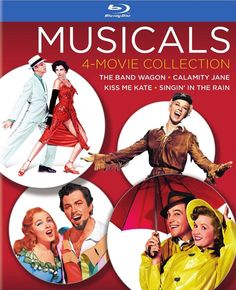 Review of the 4-movie musical Blu-ray collection featuring Singin' In The Rain, The Band Wagon, Calamity Jane & Kiss Me Kate. Available 3/3/2015.