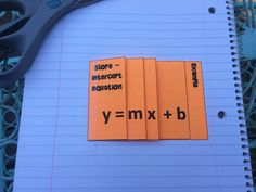 Interactive Notebook Foldables: Linear Equations (slope, y=mx+b, point-slope)