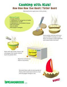 Recipes: Potato Boat   Speakaboos Worksheets