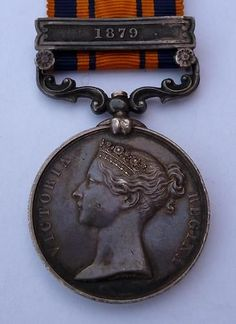 British 'Zulu War' Service Medal with 1879 Clasp ( Royal Scots Fusiliers) British Soldier, British Army, Zulu, Army Uniform, Military Uniforms, British Medals, Military Decorations, Military Costumes, Service Medals