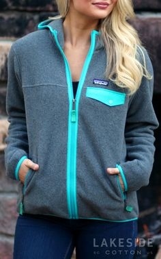 Stay warm with a Patagonia Women's Lighweight Snap-T® Hooded Jacket from Lakeside Cotton!