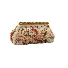 French Beaded Clutch with Enamel Frame