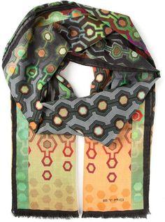 Etro geometric print scarf on shopstyle.com