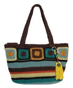 Love this Brown & Aqua Zen Crochet Kenya Tote by The Sak on #zulily! #zulilyfinds