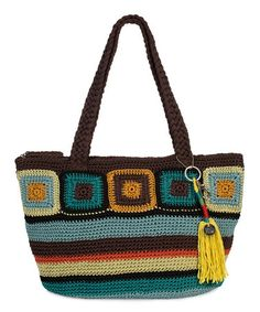 Love this Brown & Aqua Zen Crochet Kenya Tote by The Sak on #zulily! #zulilyfinds