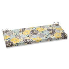 Pillow Perfect Full Bloom Outdoor Bench Cushion