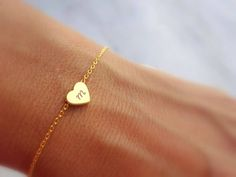Excited to share the latest addition to my #etsy shop: Initial Bracelet Initial Heart Bracelet Personalized Gift Jewelry Gold Bracelet Tiny Gold Bracelet Dainty Gold Bracelet Jewelry Gift For Her http://etsy.me/2hUL5KG #jewelry #bracelet #gold #wedding #christmas #lovefriendship