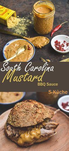 South Carolina Mustard Barbecue Sauce - Senfsauce mit Wumms zum Grillen, für Pulled Pork oder einfach zum Dippen - Rezept mit und ohne Thermomix