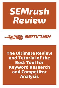 SEMrush Review – The Ultimate Review and Tutorial of the Best Tool for Keyword Research and Competitor Analysis #seotools #seo #searchengineoptimization #websitetraffic #digitalmarketing #marketing #business Marketing Tools, Digital Marketing, Competitor Analysis, Search Engine Optimization, Fisher, Social Media, Good Things, This Or That Questions, Business