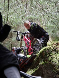 Owen Pemberton old mate and now chief designer for Norco Bikes back in the day when he liked it pink. lol #mtb #norco #bikes