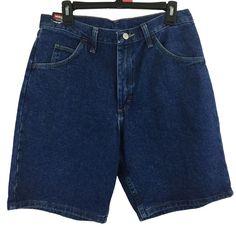 Wrangler Originals Men's Size 32 Jean Shorts Relaxed Fit 100% Cotton Denim New #Wrangler #Denim