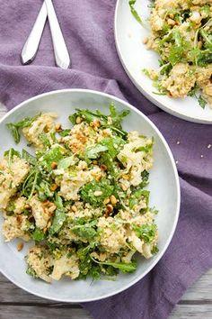 Gerösteter Blumenkohlsalat mit Hirse und Zitronen-Tahin von Elle Republic