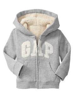GAP - Arch logo sherpa hoodie