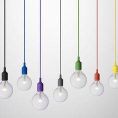Kleur bekennen! Met de Muuto E27 hanglampen