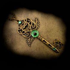 Celtic Heart and Leaf Dragon Eye Key by *LadyPirotessa on deviantART