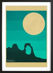 Arches National Park - Jazzberry Blue - Affiche encadrée - bois