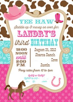 nice Unique Ideas For Cowgirl Birthday Invitations Templates Check more at http://www.egreeting-ecards.com/2016/12/02/unique-ideas-for-cowgirl-birthday-invitations-templates/