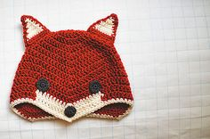 free crochet pattern fox hat: @Laini Toten I might have to learn to crochet so I can make this for your son. What does the fox say?!