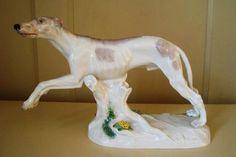 antique Meissen Greyhound, valued around $2000