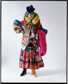 A Tim Walker portrait. I like the obscurity of the photograph really capturing the personality of the subject.